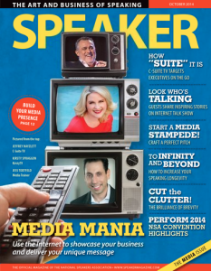 Jess Toldfeldt in the Media Training Speaker Magazine