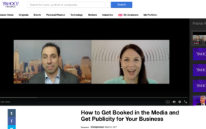 Yahoo! Finance Story: How to Get Booked in the Media and Get Publicity for Your Business